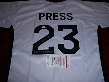 64f89ea7e4f Image Unavailable. Image not available for. Color  Autographed Christen  Press Jersey ...