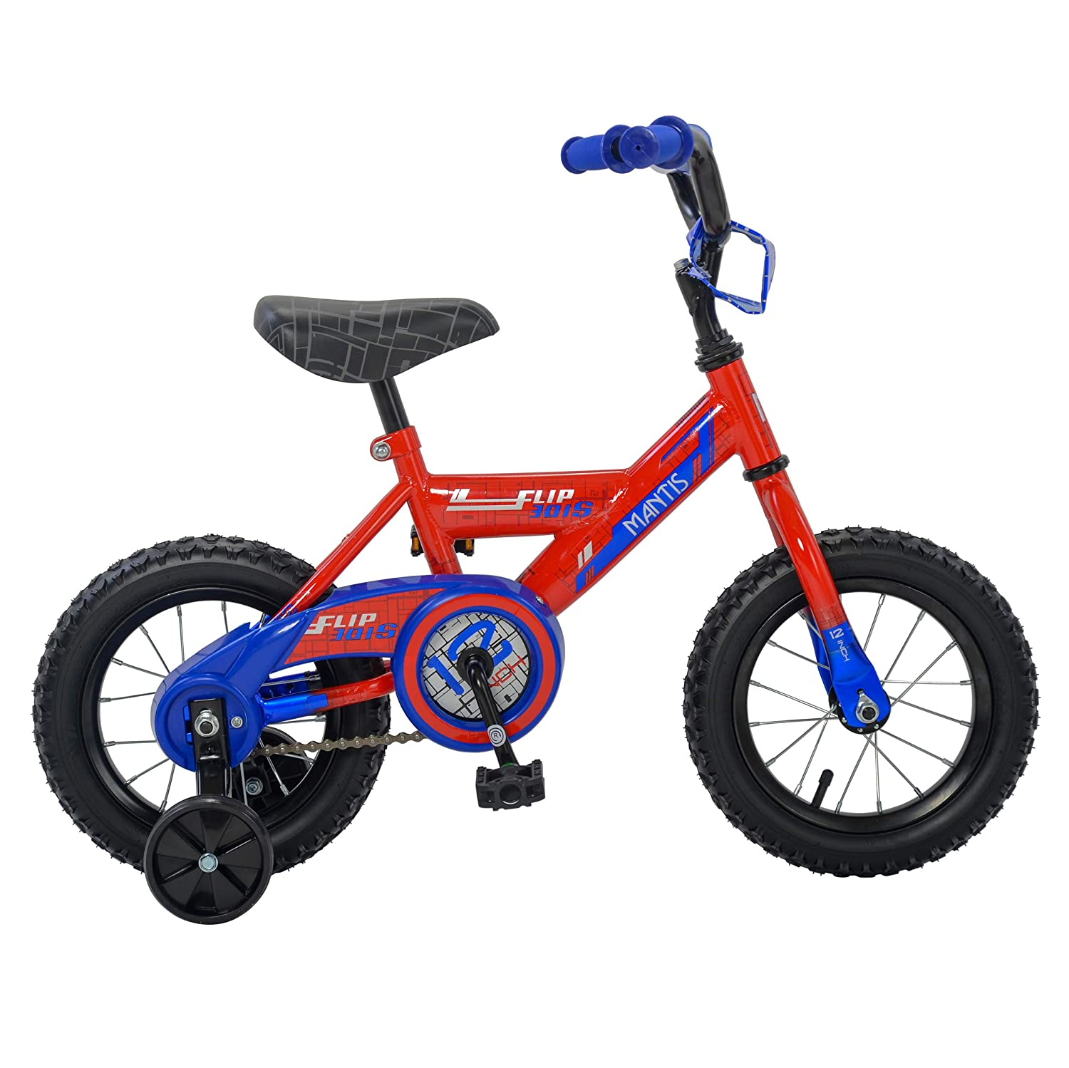 Red bluee 12 Inch Mantis Flipside Kid's Bicycle