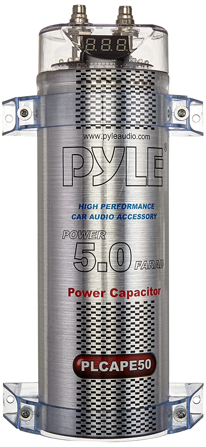 Pyle Plcape50 50 Farad Digital Power Capacitor Car Circuits Charging A 500 F It Charges Up Electronics