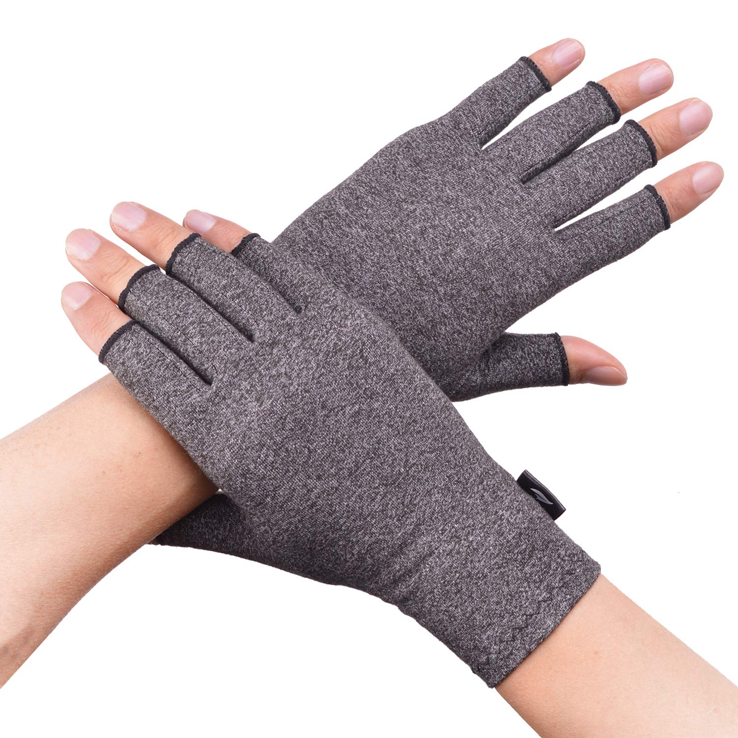 Banillue Compression Arthritis Gloves, Fingerless Hand Gloves for Rheumatoid & Osteoarthritis - Joint Pain and Carpel Tunnel Relief-Men & Women -Small