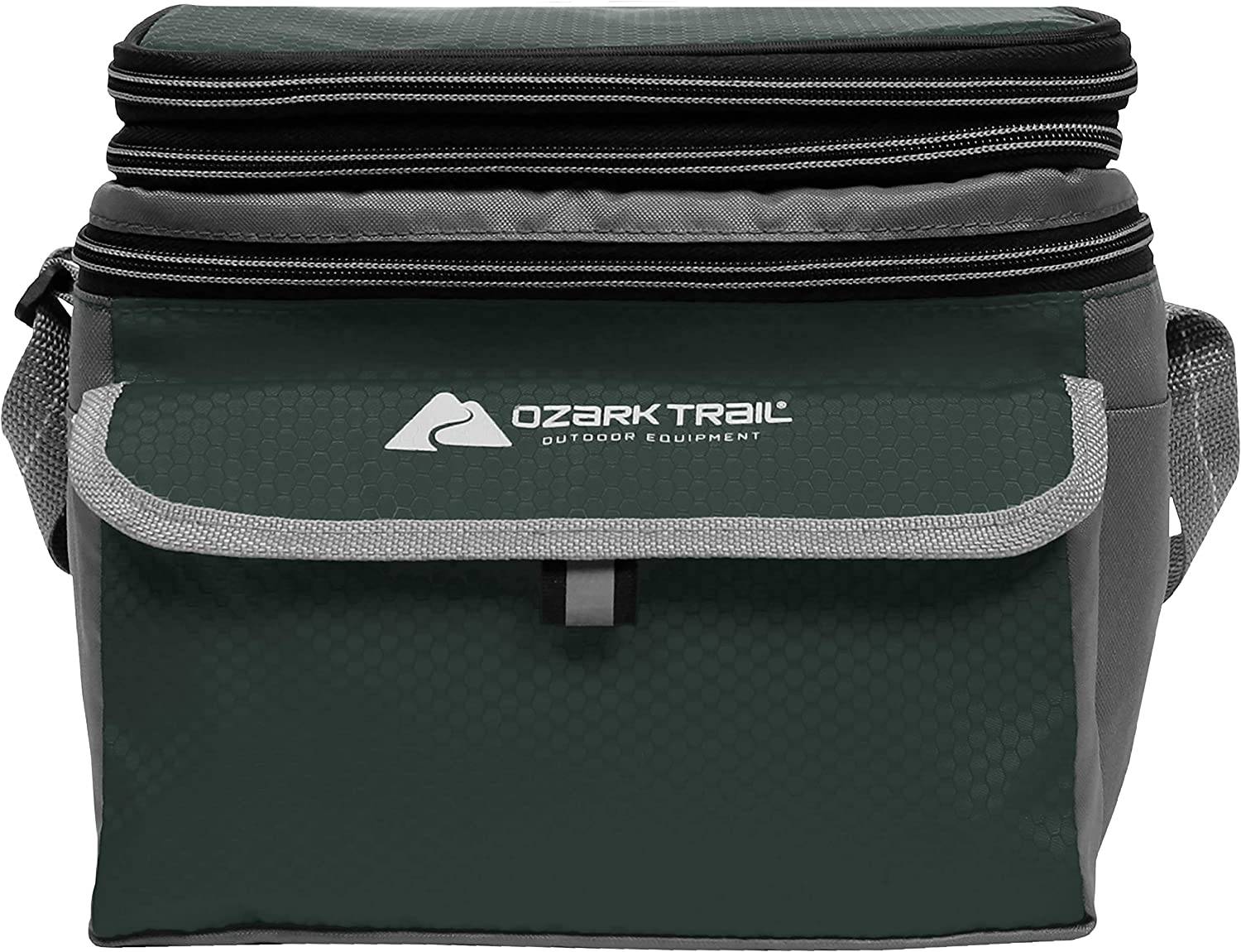 Ozark Trail 6 Can Cooler with Expandable Top - Green