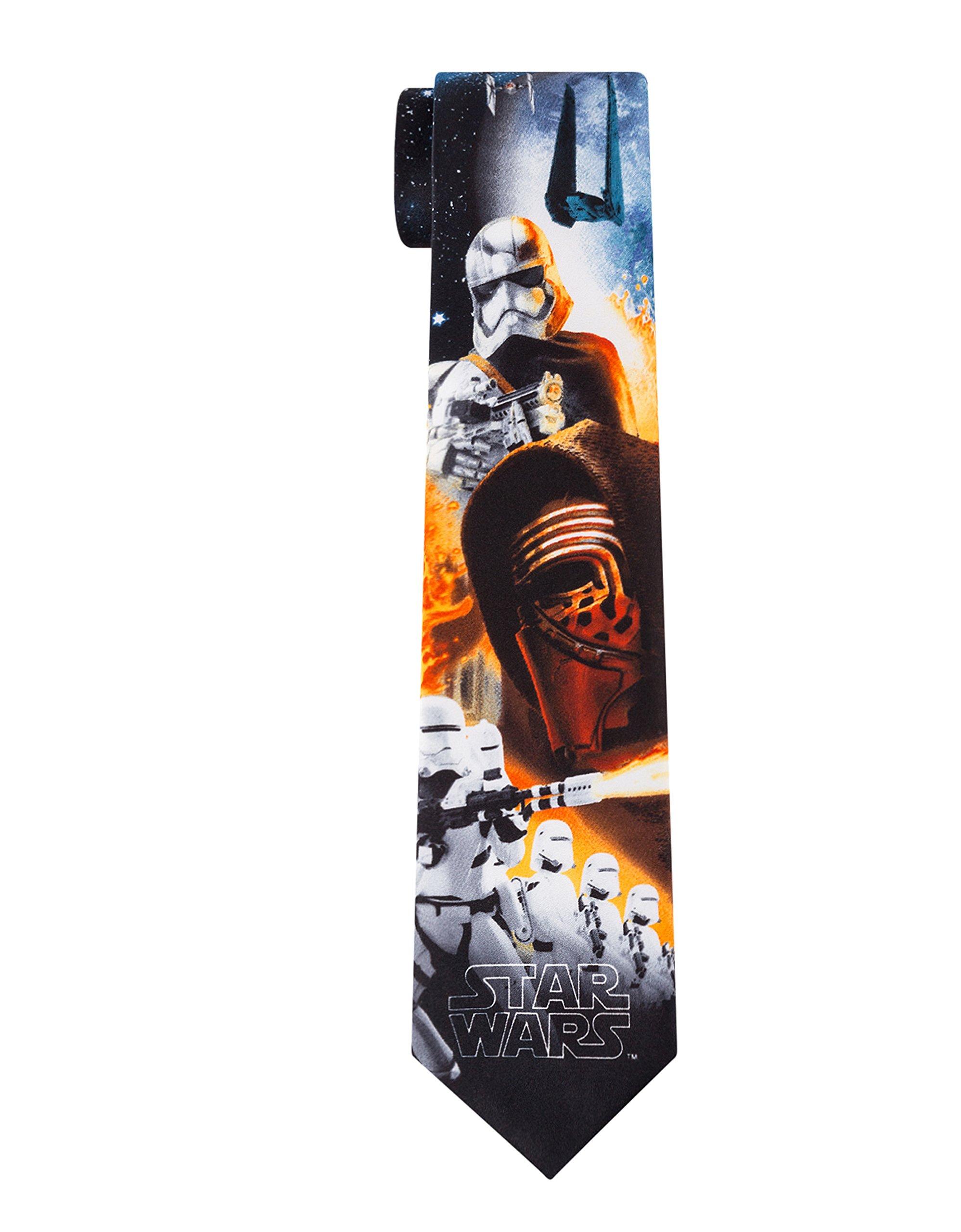 Star Wars Big Boys The Force Awakens Ties (Various Patterns), Kylo Black, One Size