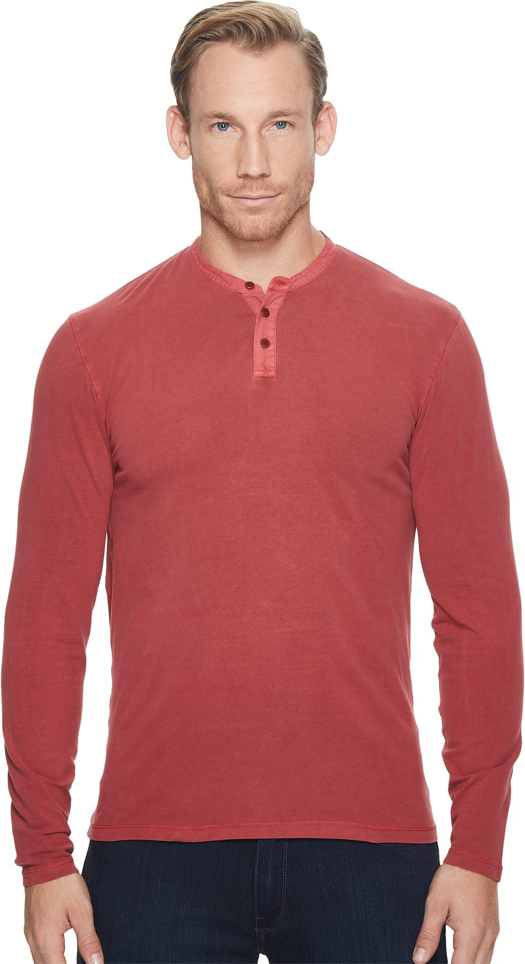 Lucky Brand Men's Saturday Stretch Henley Shirt, Red Pear, XL