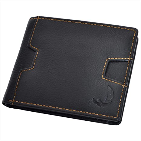 04b8d0930 De Rich Mens Leather RFID Blocking Wallet (Black): Amazon.in: Bags, Wallets  & Luggage