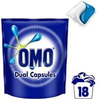 Omo Laundry Liquid Dual Capsules Front & Top Loader Active 18 pack