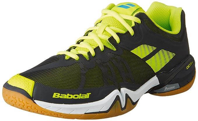 f4bd82bf8e34 Babolat Mens Shadow Tour Badminton Shoes (Black Yellow) 9.5 UK   Amazon.co.uk  Sports   Outdoors