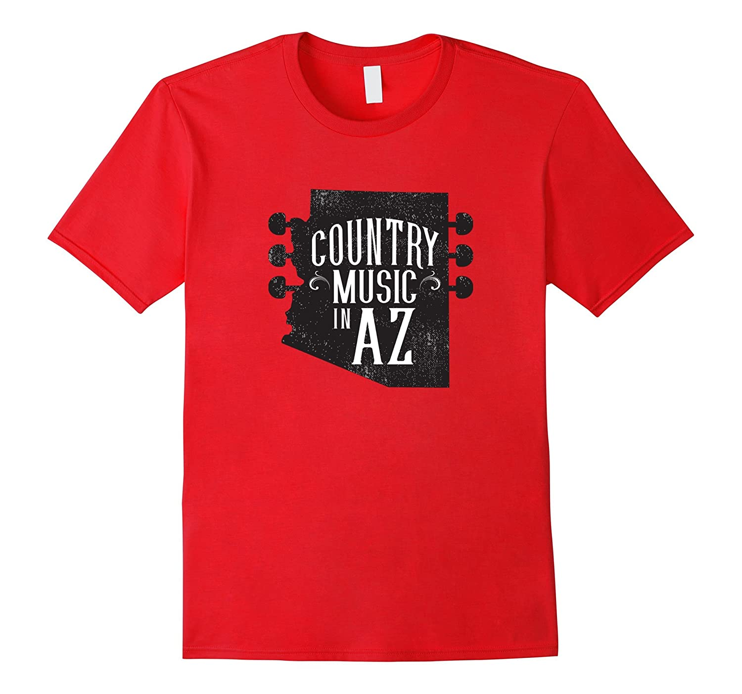 Arizona State Outline Country Music T Shirt-T-Shirt