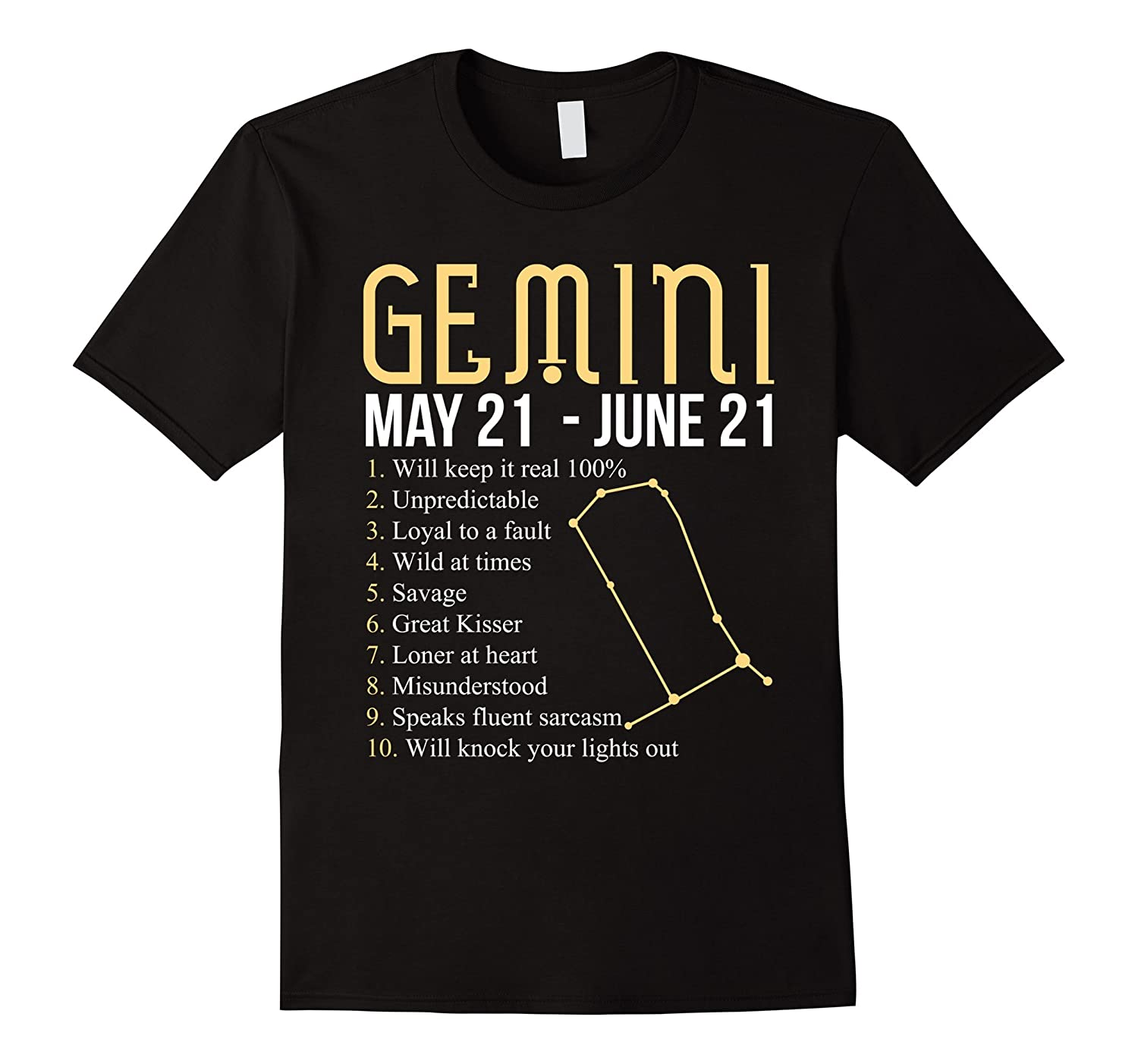 10 Things About Gemini T-shirt Gemini Definition-TH
