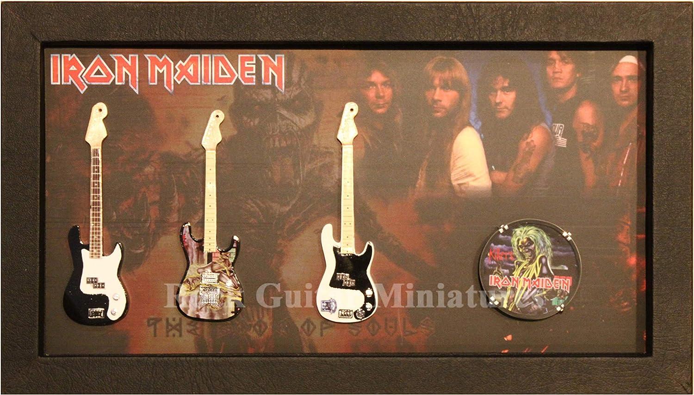 RGM9027 Iron Maiden - Guitarra en Miniatura (Marco de Caja de Sombra)