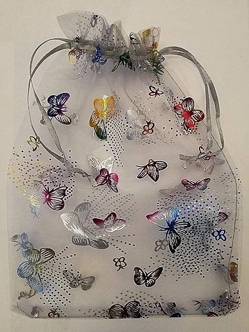 25 pcs estuches de diseño de mariposas de organza bolsas de ...