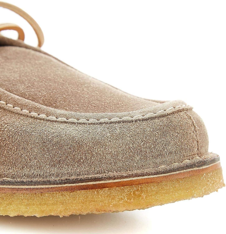 LEREWS Mens TRACK19GREY Grey Suede Loafers