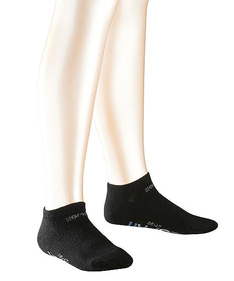 ESPRIT Foot Logo 2 Pack Kinder Sneakersocken aus weichem Baumwollmix