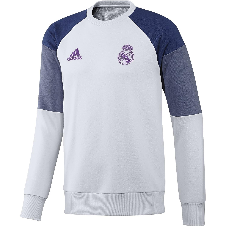 Adidas Real Madrid CF Swt Sudadera, Hombre, Blanco/Morado, M: Amazon.es: Deportes y aire libre