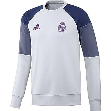 adidas Real Madrid CF Swt Sudadera, Hombre, Blanco/Morado, XXL: Amazon.es: Deportes y aire libre