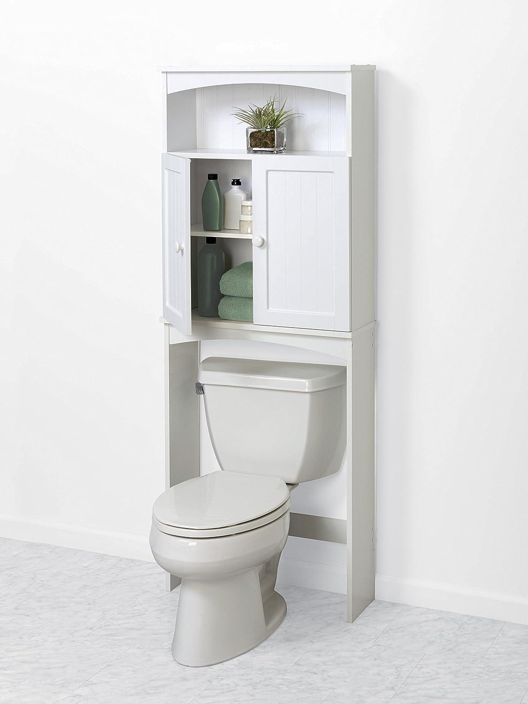 Amazon Com Zenna Home 9107w Cottage Collection Spacesaver White Home Kitchen