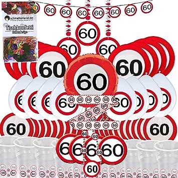 Party caja 60 cumpleaños 57 piezas decoración Señal de ...