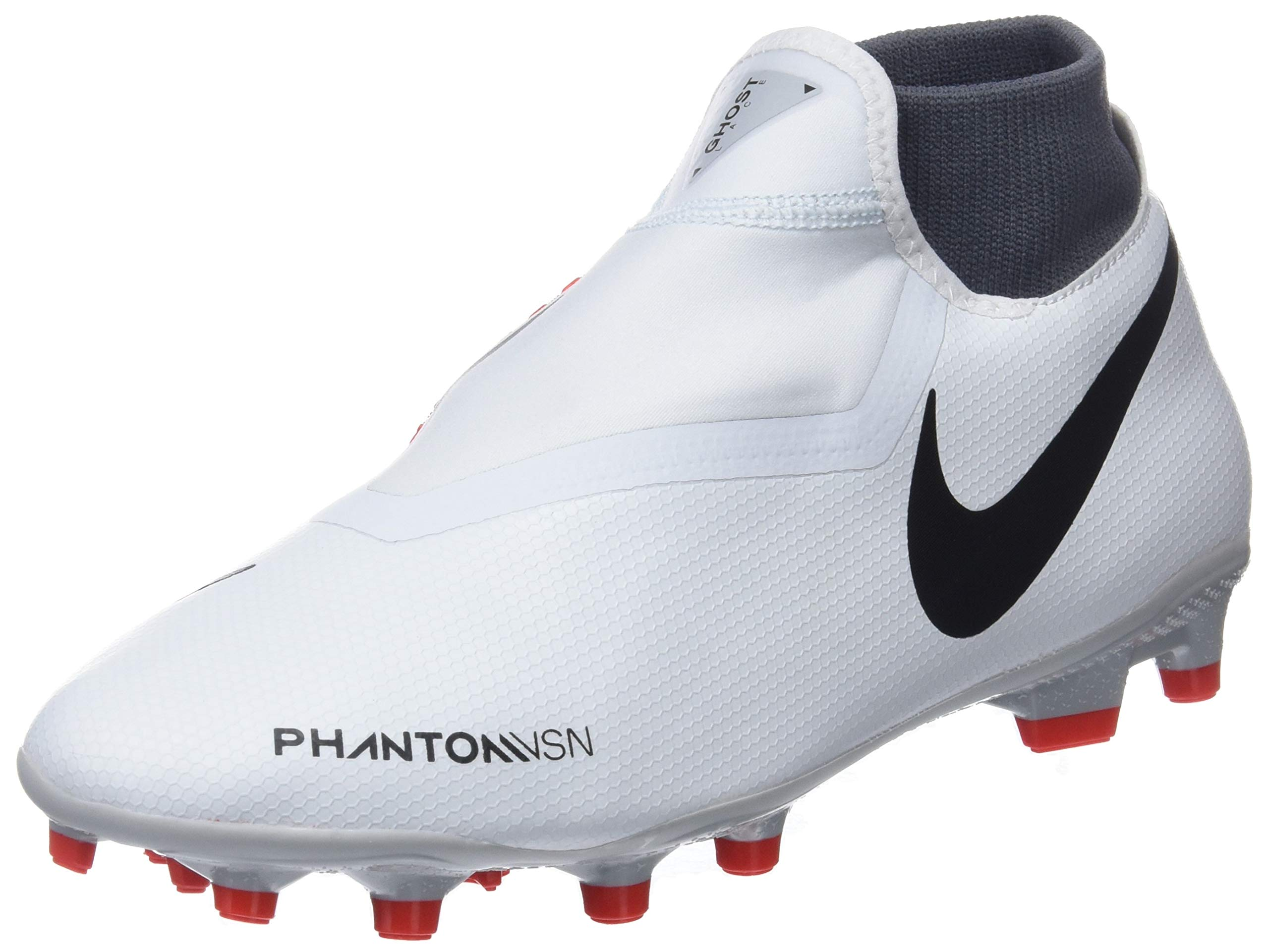 NIKE Hypervenom Phantom Vision Academy DF MG Soccer Cleat (Pure Platinum) (Men's 12/Women's 13.5)