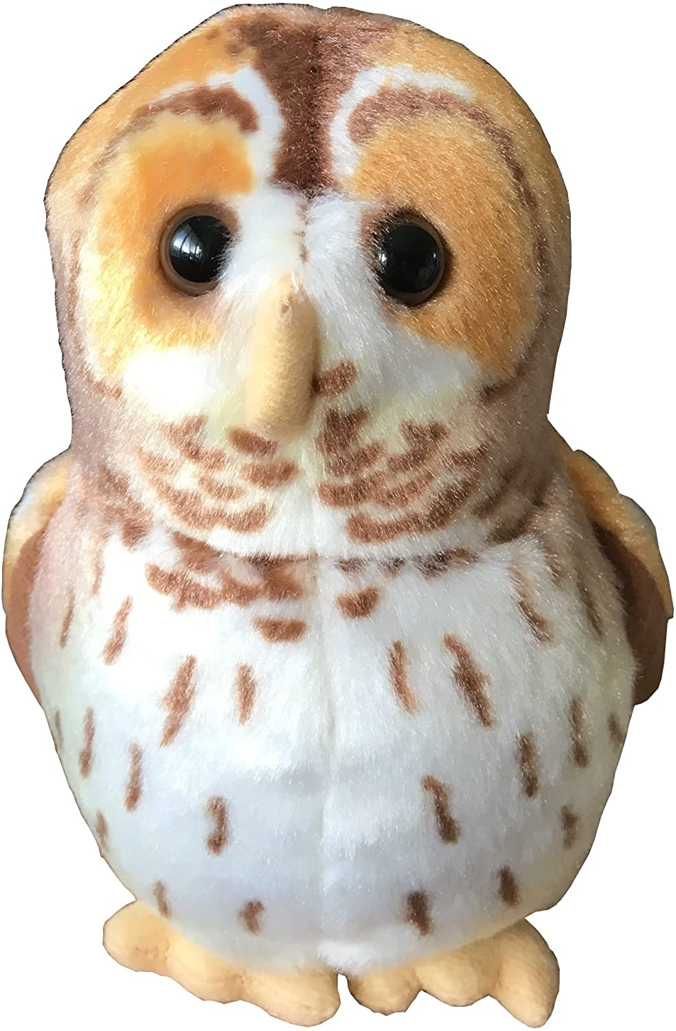 Owl soft toy that 'hoots'.
