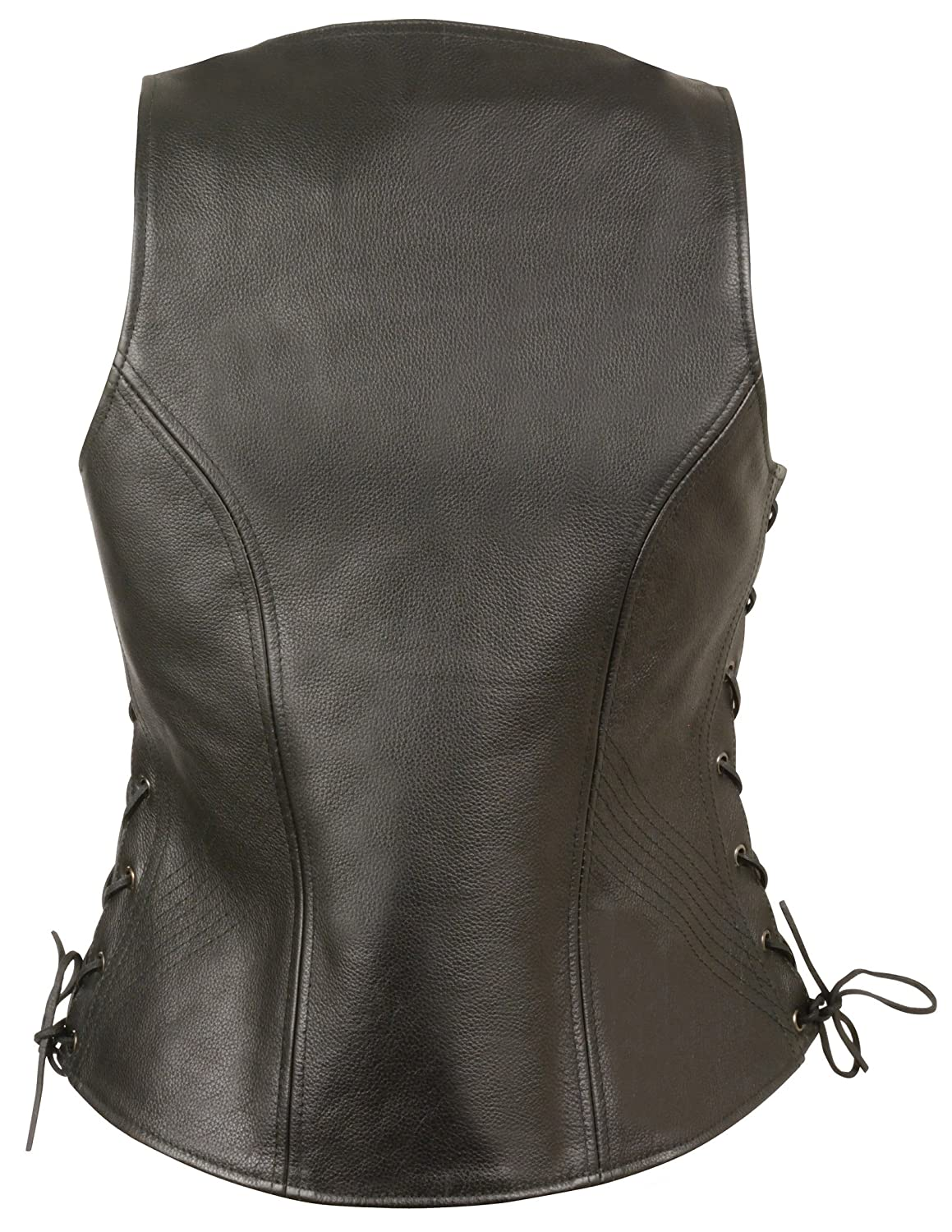 Milwaukee Womens Side Lace Vest with Stitch Detailing Black, X-Large