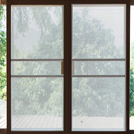 Aufun Insektenschutz Fliegengitter 120 x 250 cm Aluminum Alloy Mesh Fliegennetz f/ür Fliegenschutz Moskitonetz Fenster T/ür Fliegengittert/üren