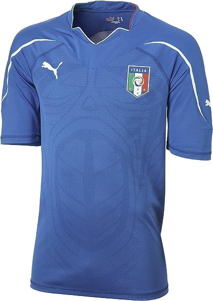 Puma - Camiseta de equipación de fútbol Sala Infantil, tamaño 12 años, Color Azul: Amazon.es: Ropa y accesorios