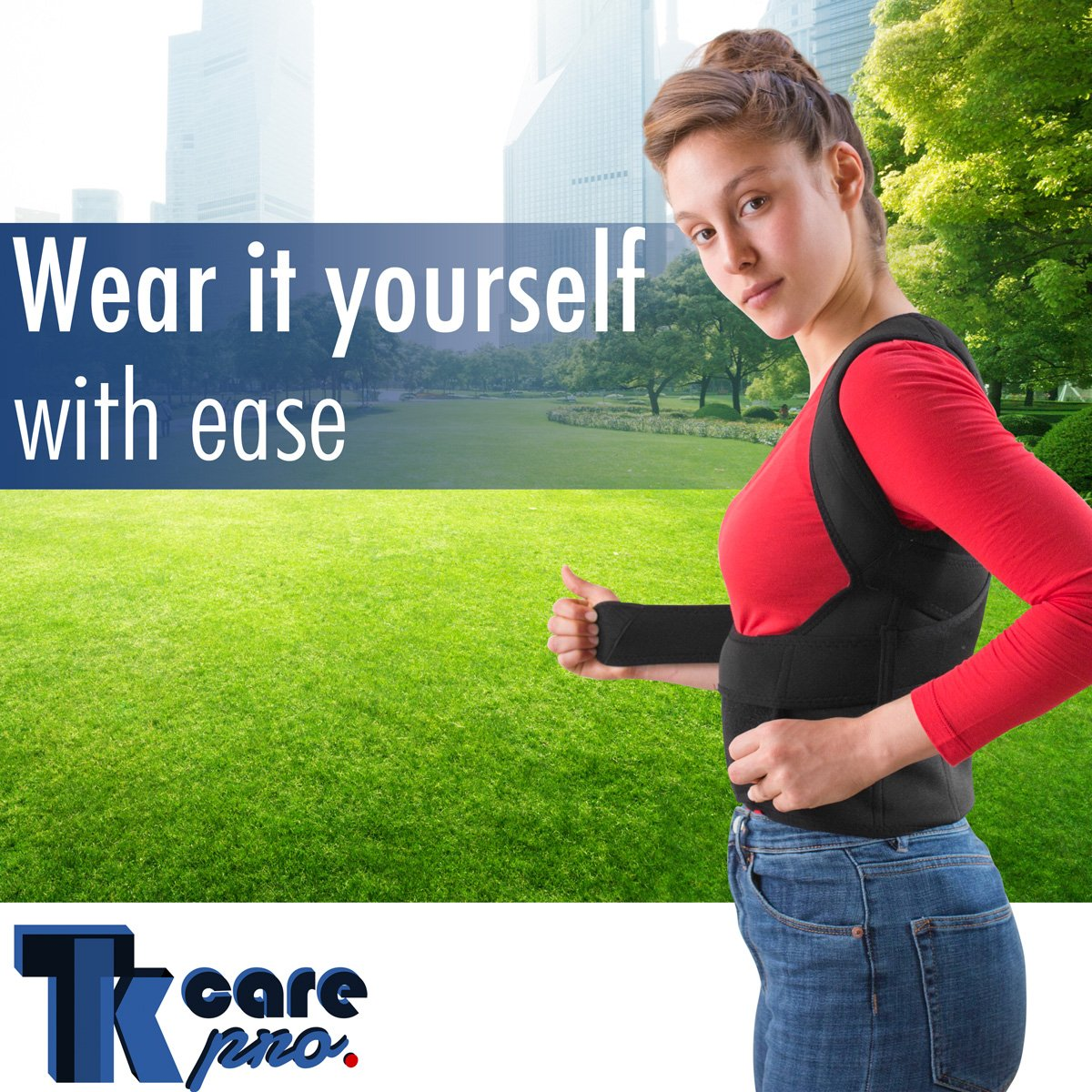 THE ULTIMATE Posture Corrector for Women & Men Under Clothes   Effective & Comfortable   Back Brace for Slouching & Hunching -Shoulders Clavicle Support   Upper & Lower Back Supports   Body Therapy by TK Care Pro. (Image #6)