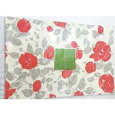 Kate Spade Garden Rose  Placemats Set of 4, Grey/Coral