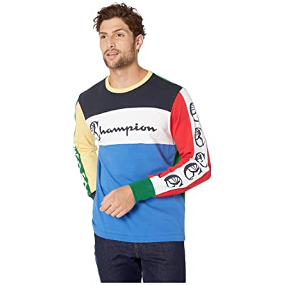 Todd Snyder Champion Color Block Graphic Long Sleeve: Clothing