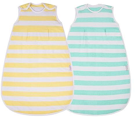 Snoozebag - Saco de dormir para bebé (2 unidades, 100% algodón, cremallera