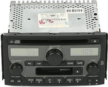 Amazon Com 1 Factory Radio Am Fm Radio Cd Cassette Player Compatible With 2003 2005 Honda Pilot 39100 S9v A110 Face 1tv1 Automotive