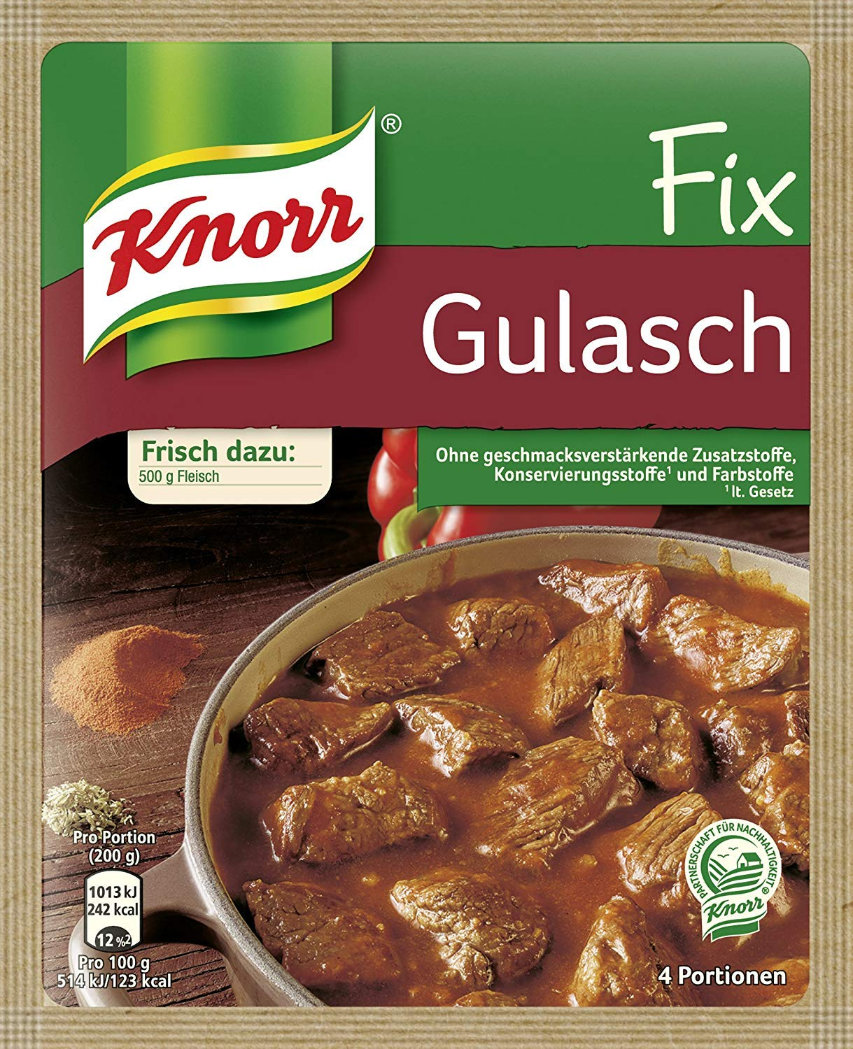 Knorr Fix goulash (Gulasch) (Pack of 4)