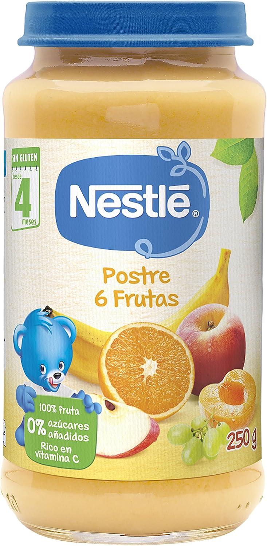 Nestlé Purés Tarrito De Puré De Fruta Variedad Postre 6 Frutas Para Bebés A Partir De 4 Meses Tarrito De 250g Amazon Es Alimentación Y Bebidas