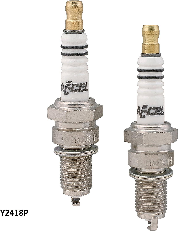 ACCEL PLUGS 2418P Platinum Spark Plugs Orange Cycle Parts
