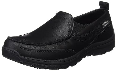 Skechers Hobbes Men Sneaker Slip on Workingshoe Black, Shoe Size:EUR 45