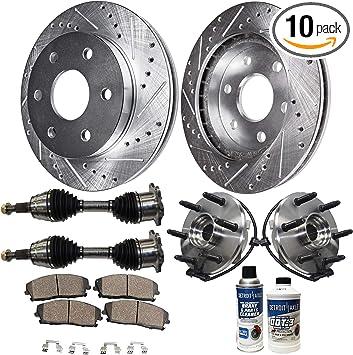 Front Drilled Brake Rotors /& Ceramic Pads Chevy SILVERADO 1500 GMC SIERRA 1500
