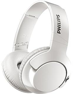 Philips Bass+ SHB3175WT - Auriculares inalambricos (Bluetooth con micrófono, aislantes de Ruido, Plegables