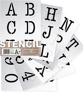 ghdonat.com Reusable Plastic Number Templates Stencils for Art ...