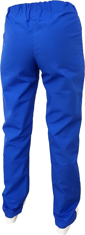 m/édical m/édical Personnel hospitalier Unisexe pour infirmi/ères esth/étique Tecno Hospital Pantalon avec /élastique et Poches Avant