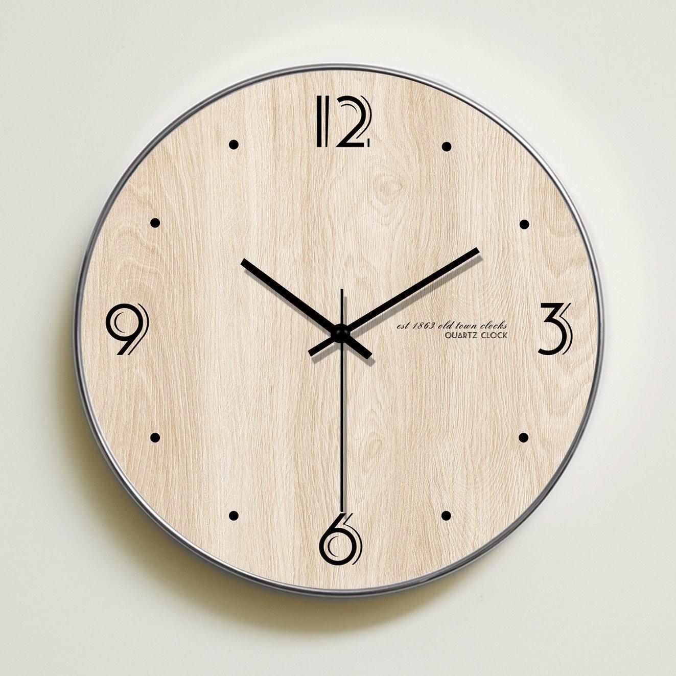 家庭用壁時計居間寝室北欧壁紙クリエイティブなパーソナリティミュートクリエイティブな雰囲気の時計の壁時計 (サイズ さいず : 14 inches) B07DSDTRNB14 inches