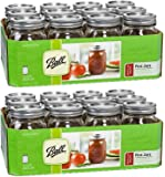 Ball Regular Mouth Pint 16-oz Mason Jar with Lids and Bands (Pack of 24)