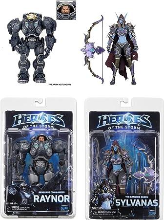 NECA Heroes of The Storm Serie 3 Figuras Raynor (Starcraft) / Sylvana (World of Warcraft) (18 cm. de Alto): Amazon.es: Juguetes y juegos