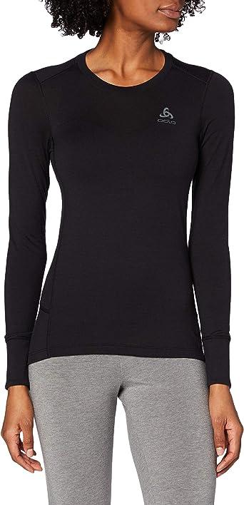 Mujer Odlo Suw Top Crew Neck S//S Natural 100/% Merino Camiseta