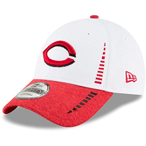 new style 61881 7e2d9 Image Unavailable. Image not available for. Color  Cincinnati Reds New Era  Speed Tech 9FORTY Adjustable Hat White