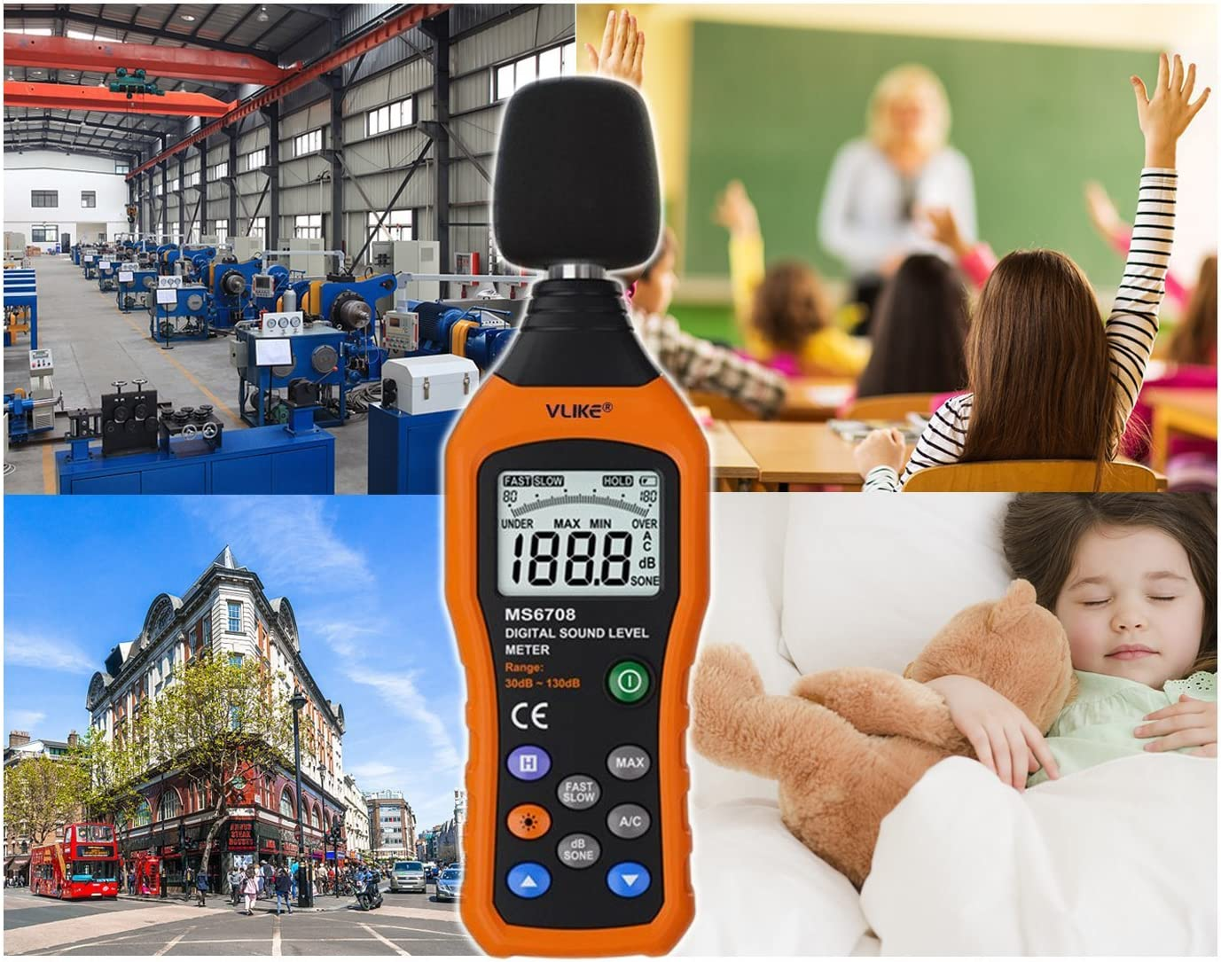Vlike Lcd Digital Audio Decibel Meter Sound Level Meter