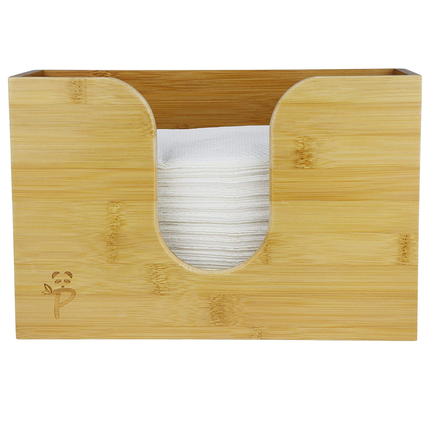 a7eb784ffac Paper Towel Dispenser Bamboo for Kitchen Bathroom Decor Wall Mount Or Countertop  Paper Towel Holder for Multifold ...