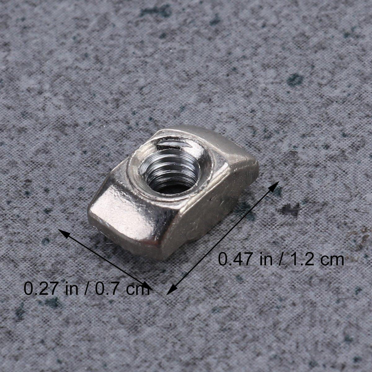 bestomz T Tuerca de rosca M4/Slim 50pcs 10/x 6/mm