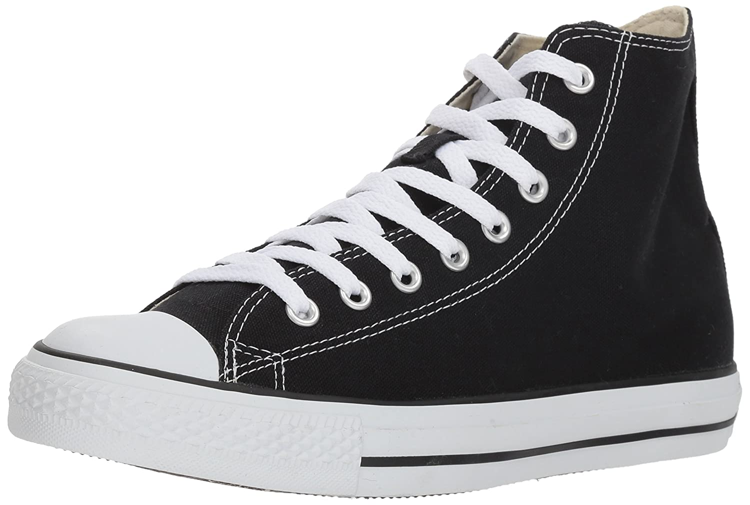 Converse Unisex Chuck Taylor All-Star High-Top Casual Sneakers in Classic Style and Color and Durable Canvas Uppers B000LFAQDA 4.5 D(M) US Mens/6.5 B(M) US Womens|Black