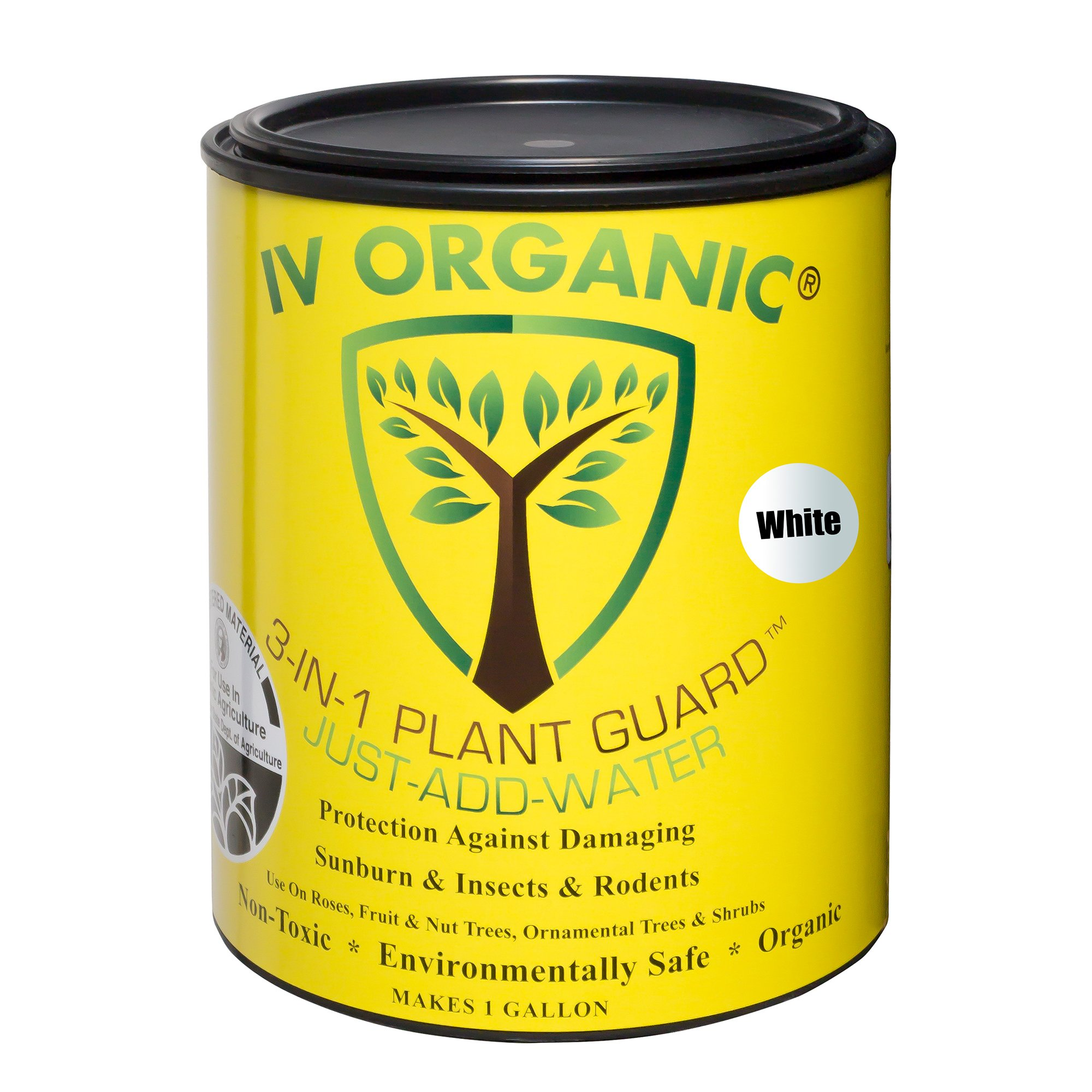 IV Organic 100534642 1 Gallon 3-in-1 Plant Guard White