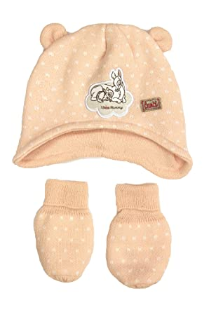 68c3a725bc1 Image Unavailable. Image not available for. Colour  Disney Licensed Baby  Girl s Peach Bambi Winter Hat and Mittens ...