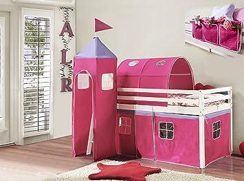 Etagenbett Zelt : Noa and nani etagenbett mit rosa zelt turm tunnel betttaschen